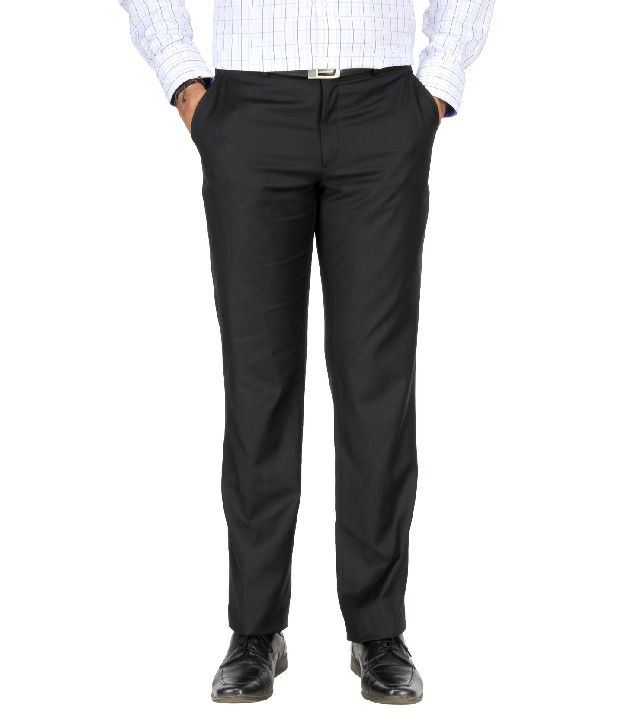 Metal Jadeblue Black Formal Slim Fit Shirt