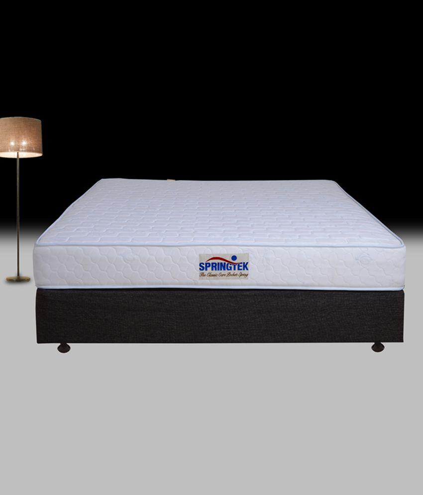 springtek double size classic care pocket spring mattress 72x48x8