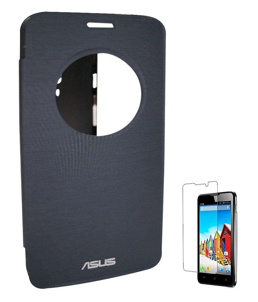 premium selection cb432 8e9e4 Evoque Flip Cover For Asus Zenfone 5 A501cg Black With Screen Guard