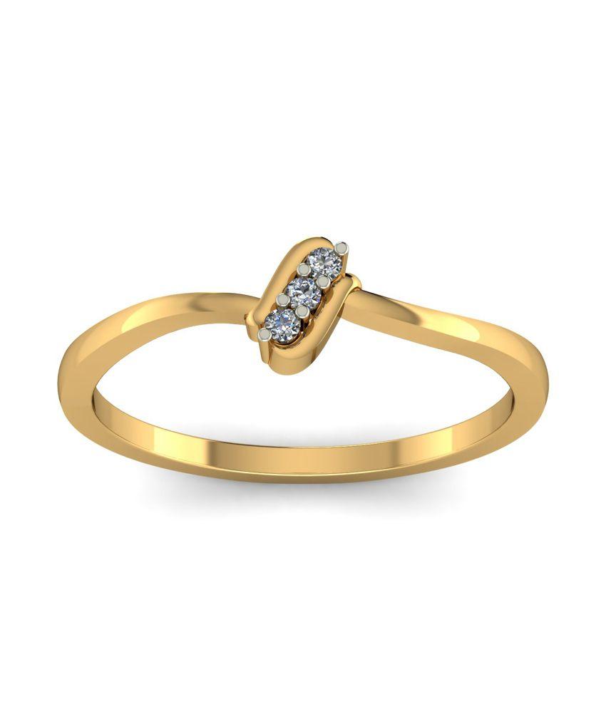 Kuberbox 14k Gold Diamond Care Ring