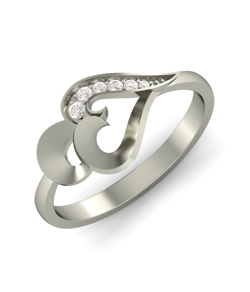 Kuberbox 14k Gold Diamond Catchy Trio Ring