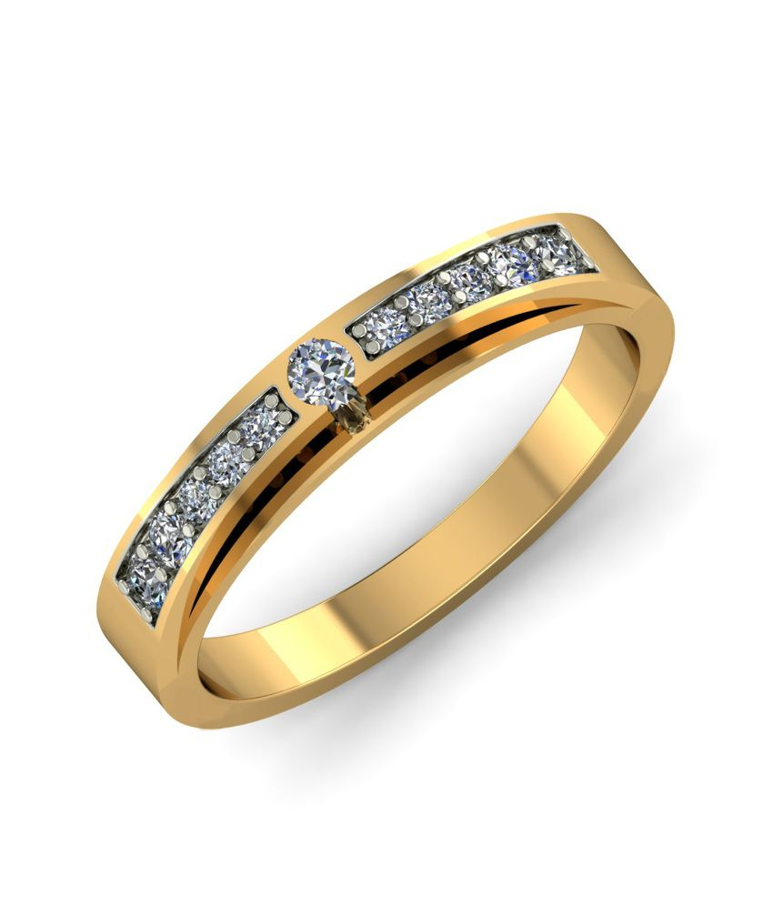 Kuberbox 14k Gold Diamond Channel Ring