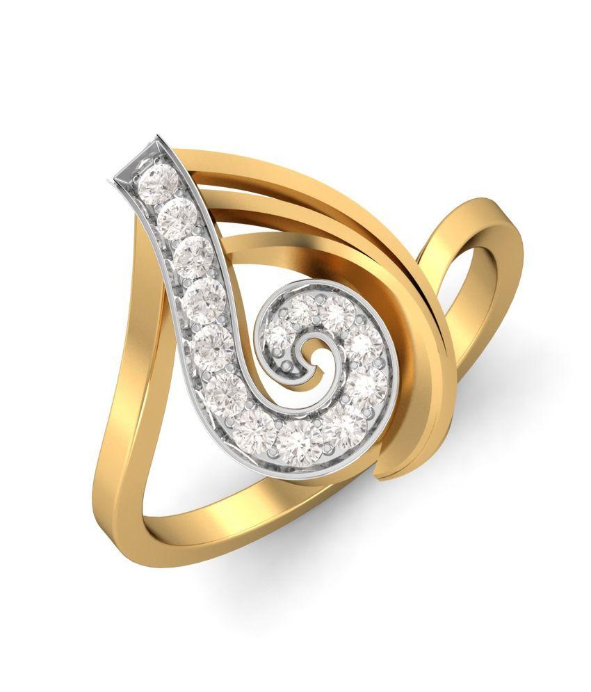 Kuberbox 14k Gold Diamond The Ultimate Feel Ring