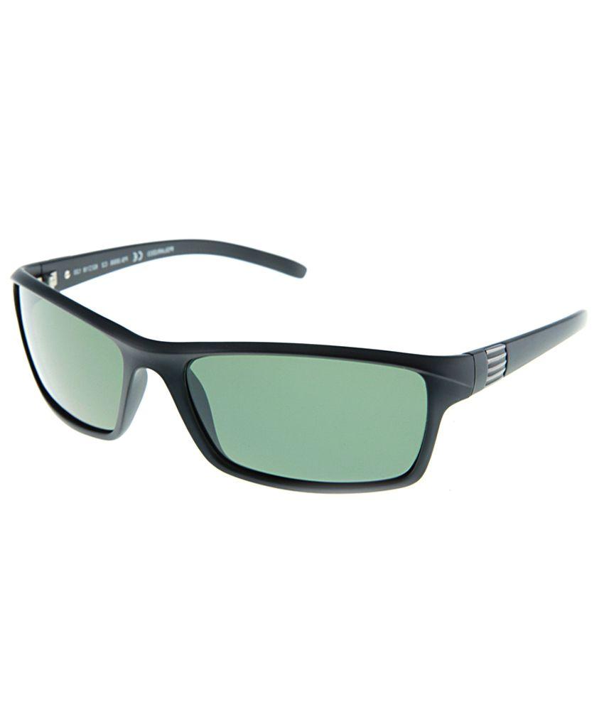 Polar Solar PS-3005-C2_W Green Large Women Rectangle Sunglasses