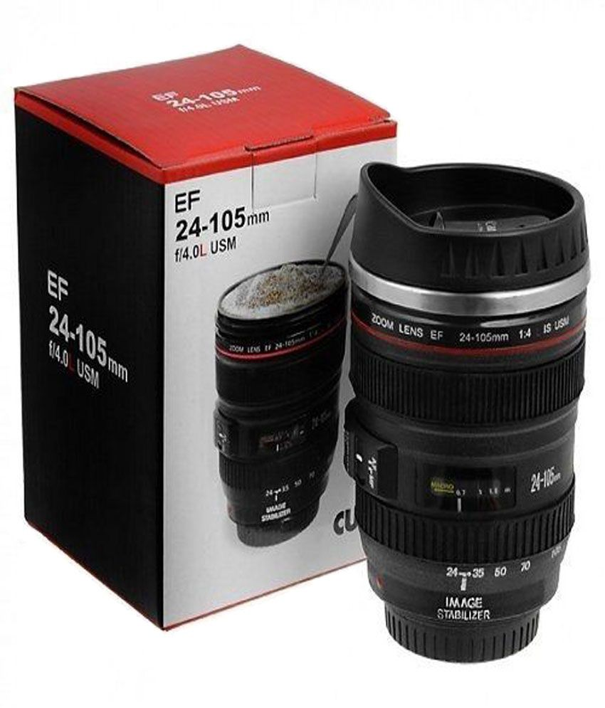 Excluzy Camera Lens Shaped Black Coffee Tea cup Mug Gifts For Birthdays