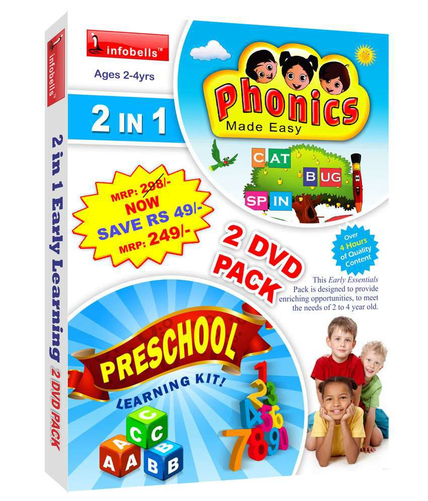 Infobells 2 In 1 Early Learning 2 Dvd Pack