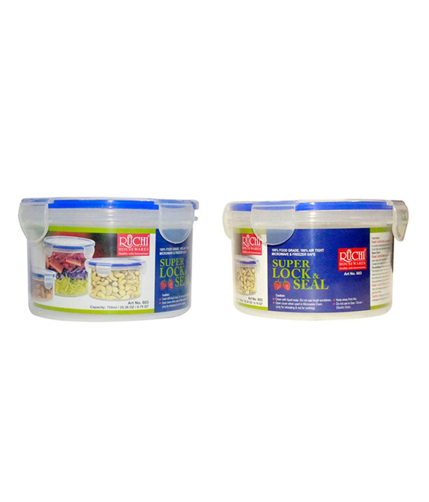 Ruchi Houseware Plastic Kitchen Storage Containers 2 Pieces 500 Ml Buy Online At Best