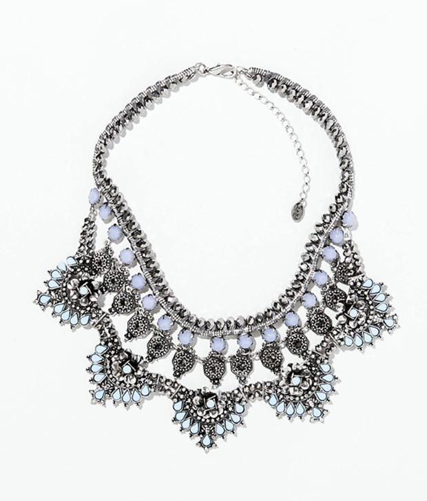 Esme Accessories Silver Contemporary Statement Necklaces Neckalace Set