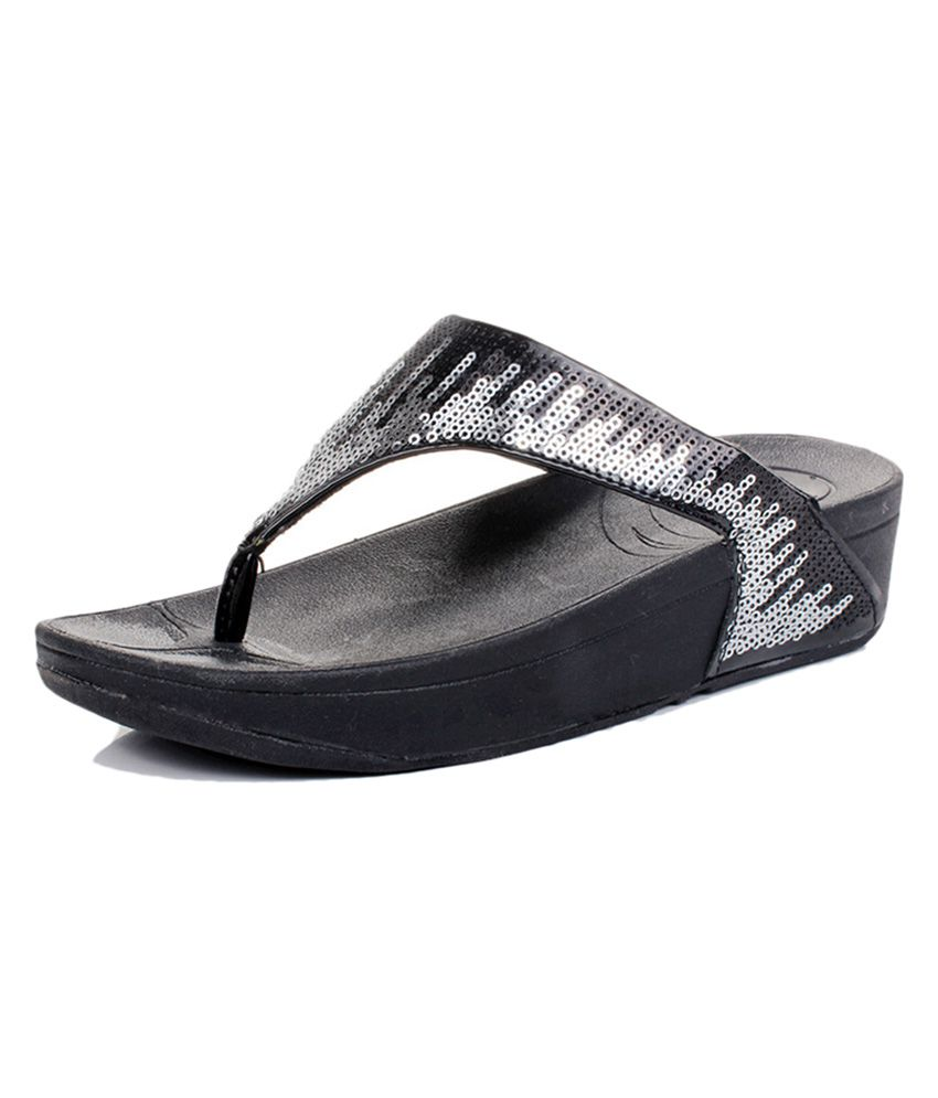 6851732524f Irsoe Black Party Shimmer Flip Flop For Kids Price in India- Buy Irsoe  Black Party Shimmer Flip Flop For Kids Online at Snapdeal