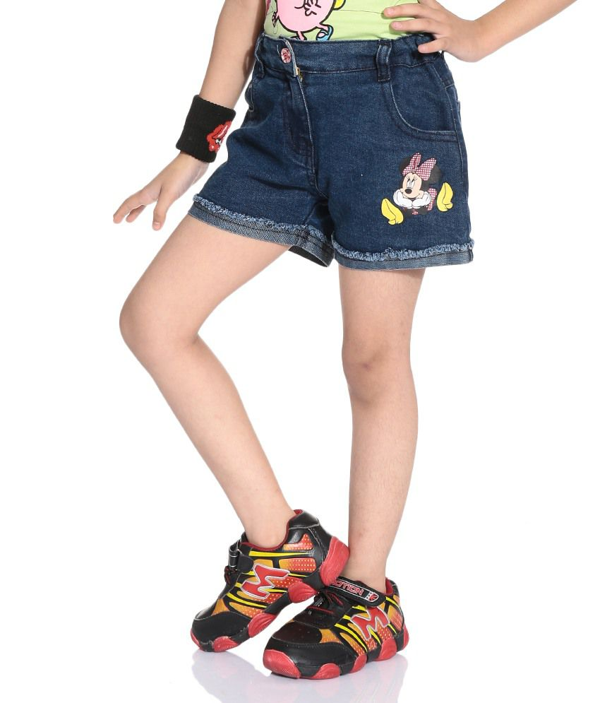 Disney Mickey Blue Color Shorts For Kids