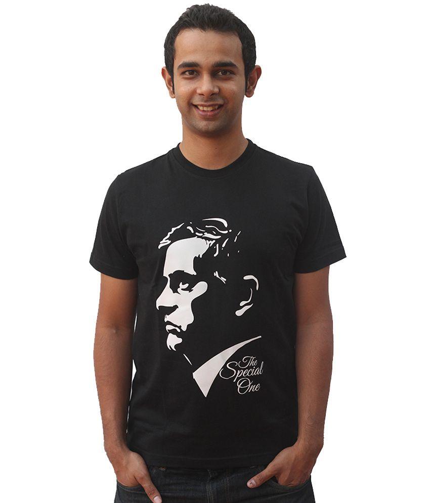 642 Stitches Black Cotton T-shirt