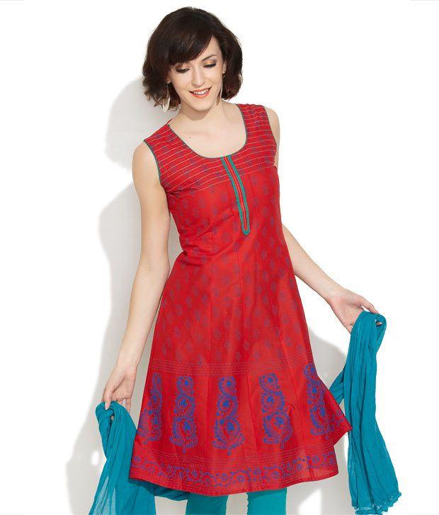 Lovely Lady Red Vibrant Verve Kurta