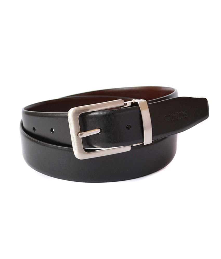 woodland black and brown leather formal belt bt1013blk