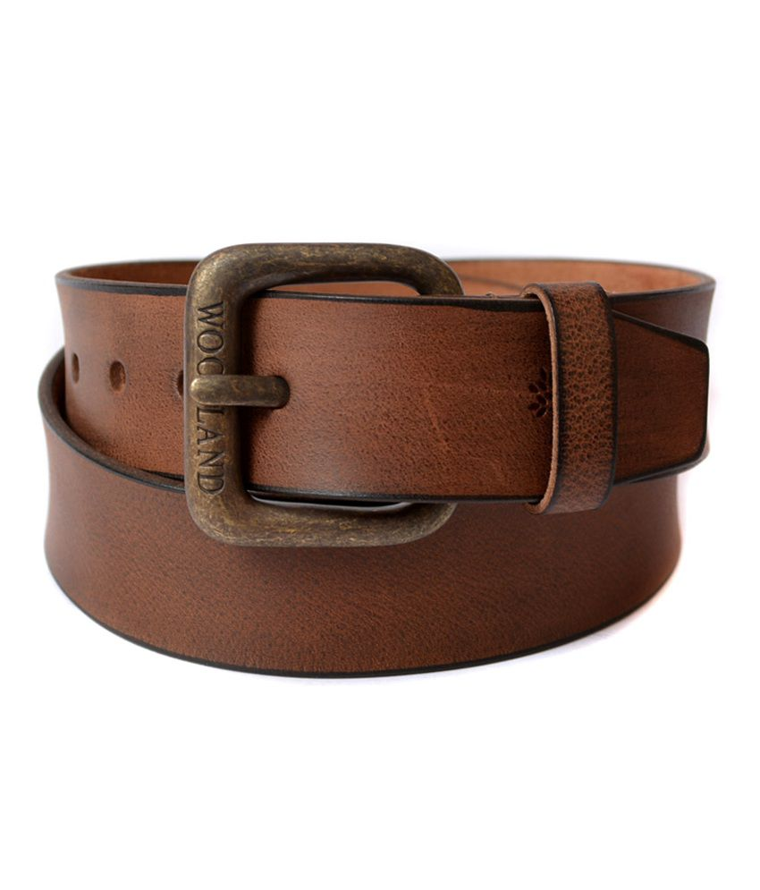 Woodland Brown Leather Casual Belt Art BT1016BRN