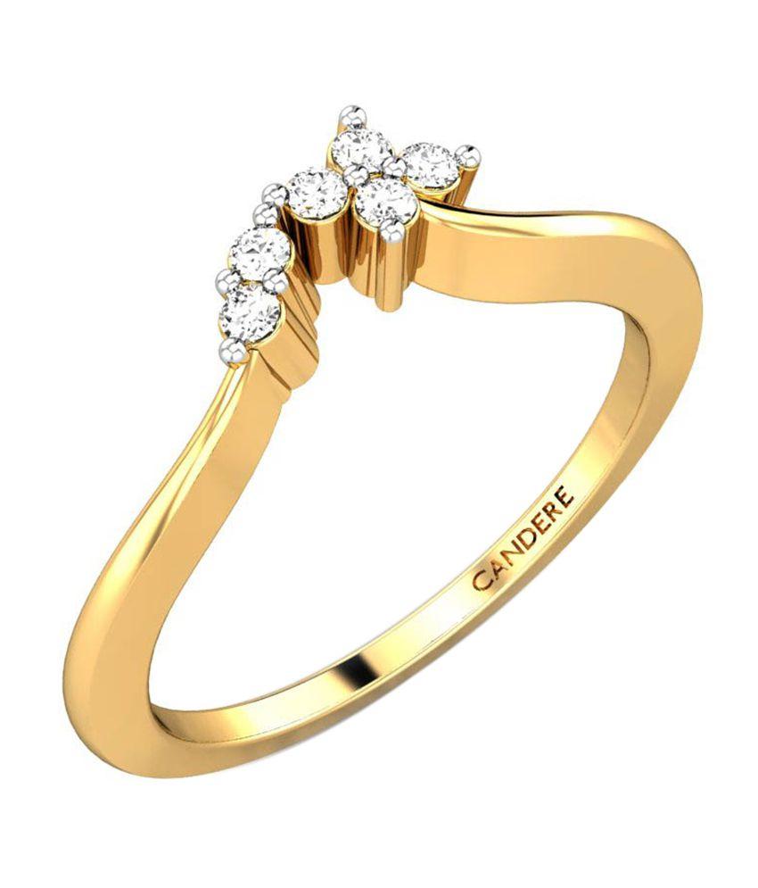 Candere Nandana Diamond Ring Yellow Gold