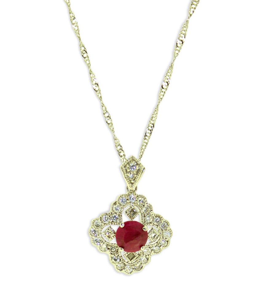 Just Women Red Diamante And Ruby Necklace