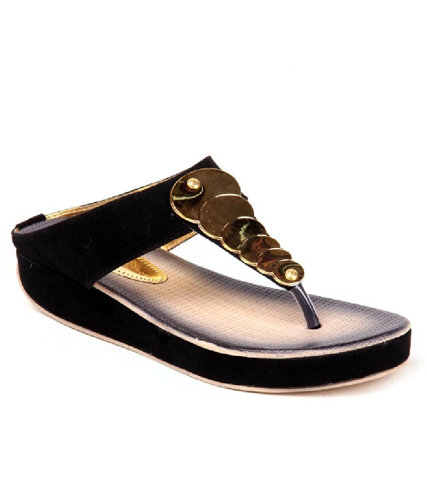 Anand Archies Black Flats