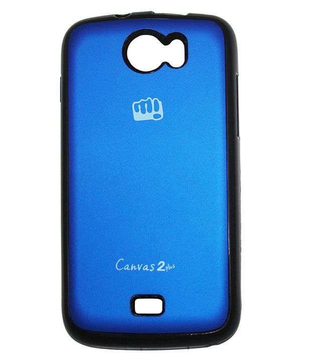 timeless design 817c7 78f89 Case Micromax Canvas 2 Plus A110 Back Cover (blue)_rldmacc000093