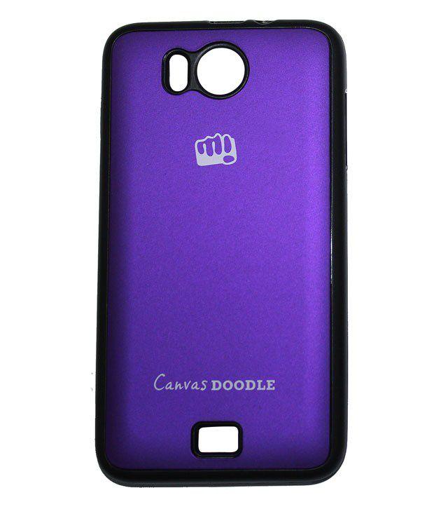 online retailer 67647 4d956 Case Micromax Canvas Doodle A111 Back Cover (purple)_rldmacc000081
