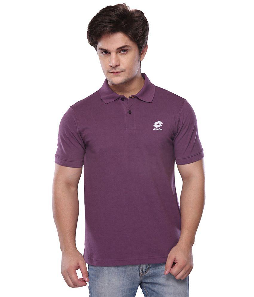Lotto Purple Polo T-Shirt