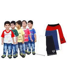 Goodway Pack of 8 -Boys Mom &Dad 5 Pack T-Shirts & 3 Pack Fashion Shorts Combo Pack