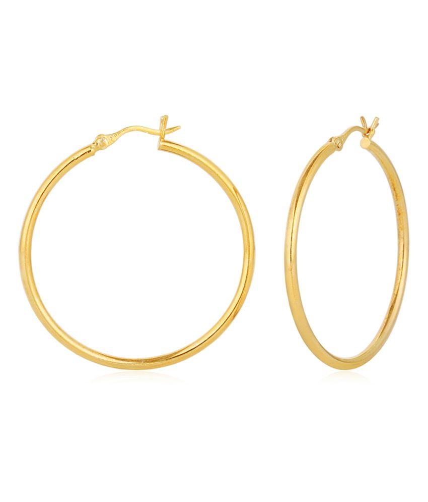 Flash Derewala Large Hoola Hoop Gold Flash Silver Earrings