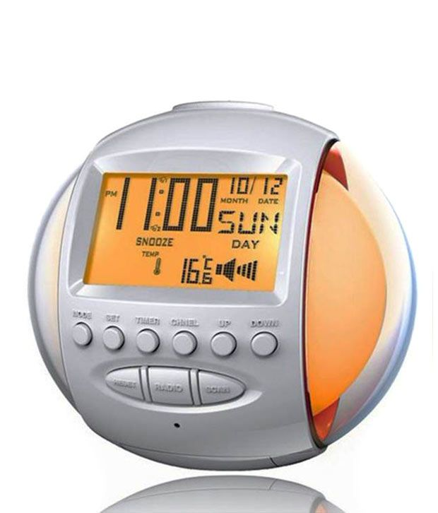 aptron nature sound alarm digital clock with 7 color led flashing calendar and fm radio buy. Black Bedroom Furniture Sets. Home Design Ideas