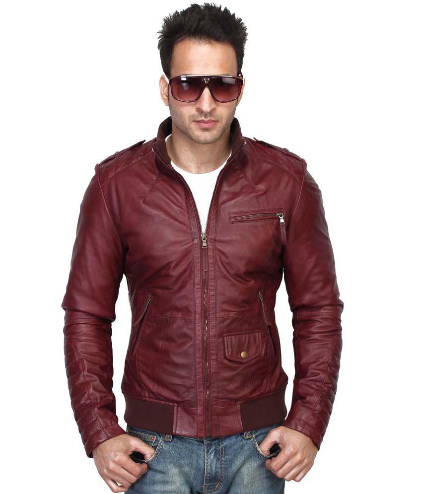 Leather jacket india - Bareskin 100 Leather New Slim Fit Jacket