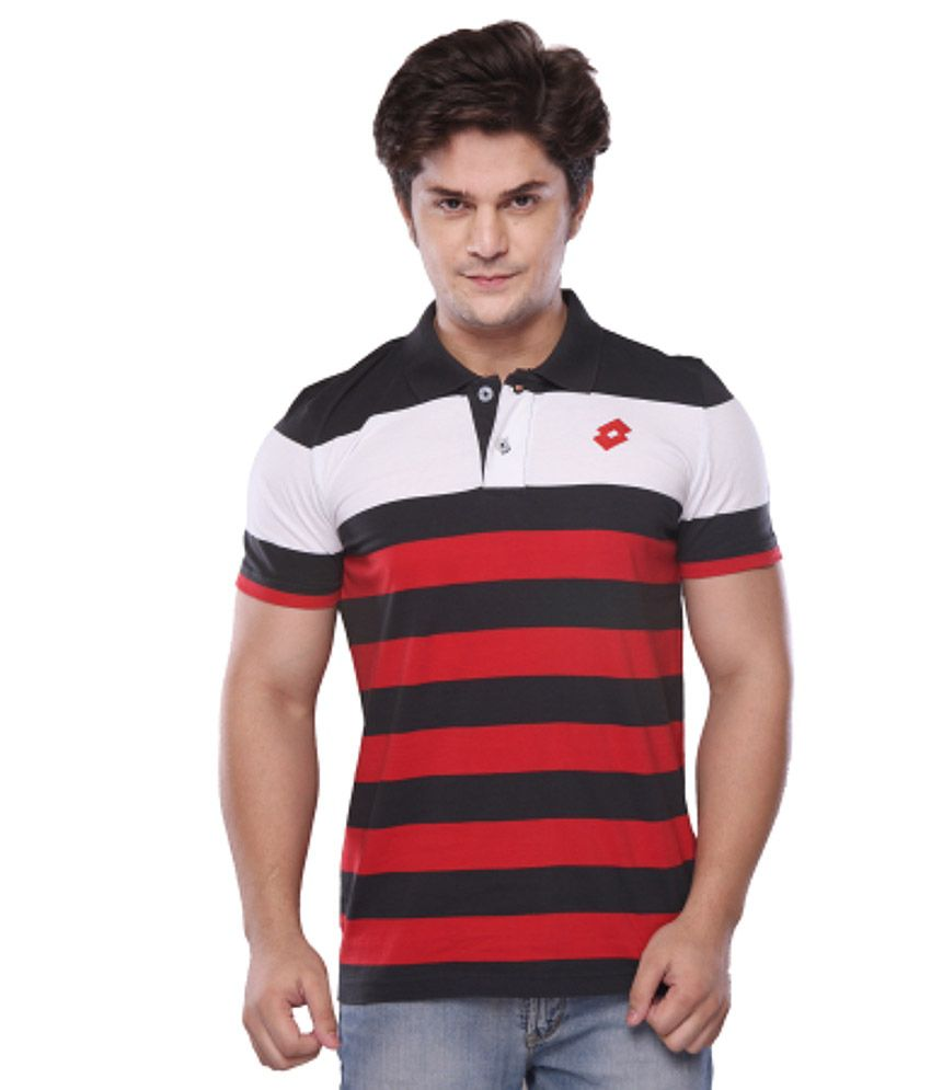Lotto Red Half Polo T-shirt