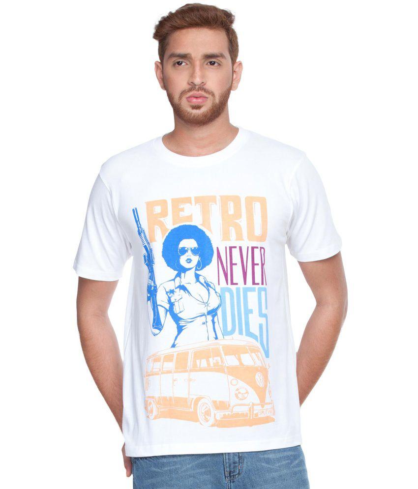Zovi Retro Never Dies White Graphic T-shirt
