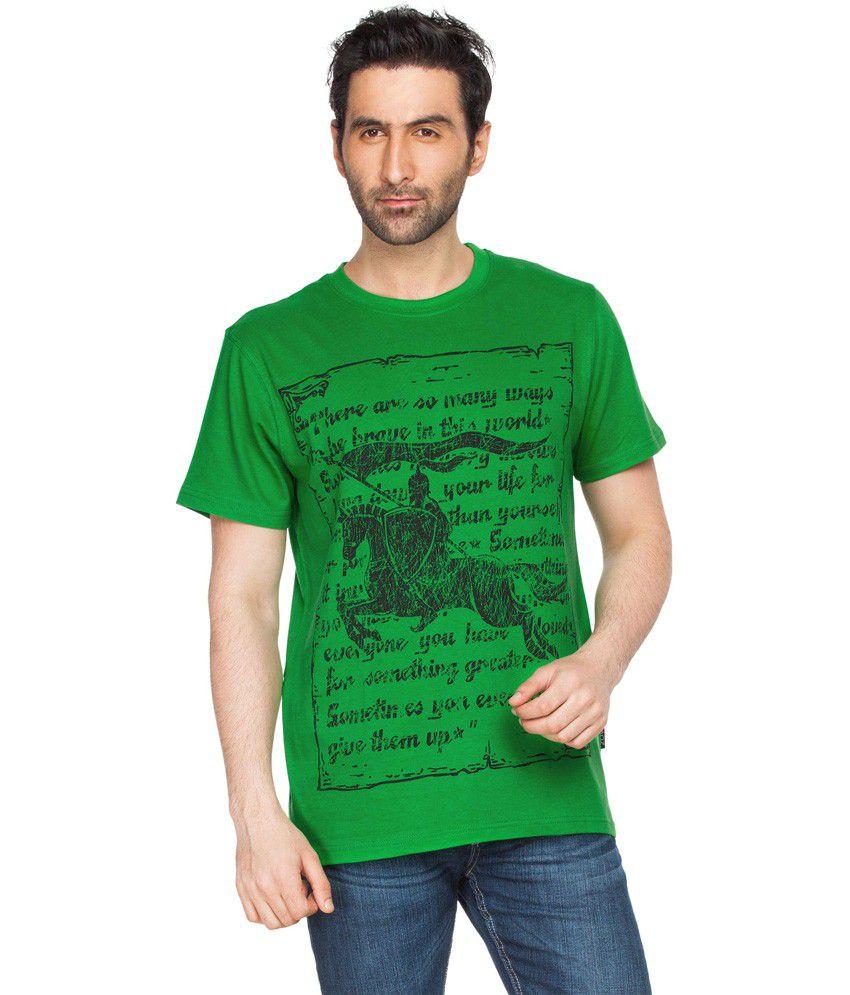Zovi Sid Rays Green Graphic T-shirt