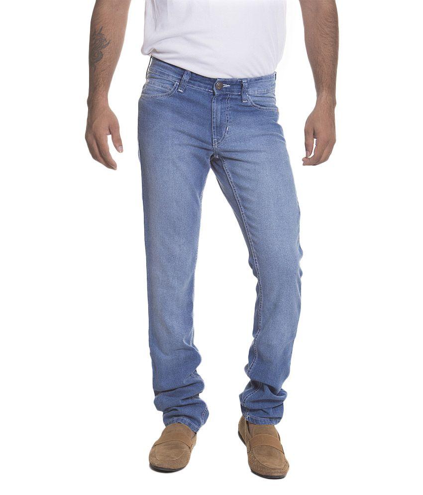 Flying Machine Blue Cotton Slim Fit Jeans