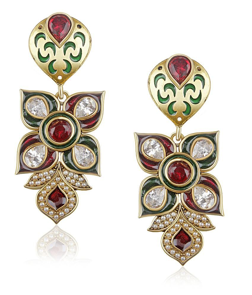 Vk Jewels Multi Colour Magical Beauty Drop Earring Set