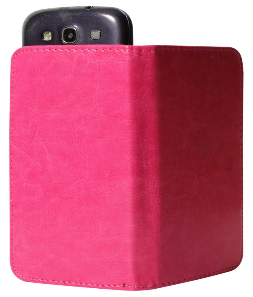 another chance 81ff0 f3812 Dmg Universal Flip Cover For Spice Stellar Mettle Icon Mi-506 - Magenta