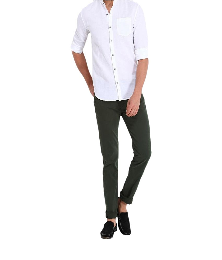 Inspire Clothing Inspiration M.Green Slim Casual Chinos