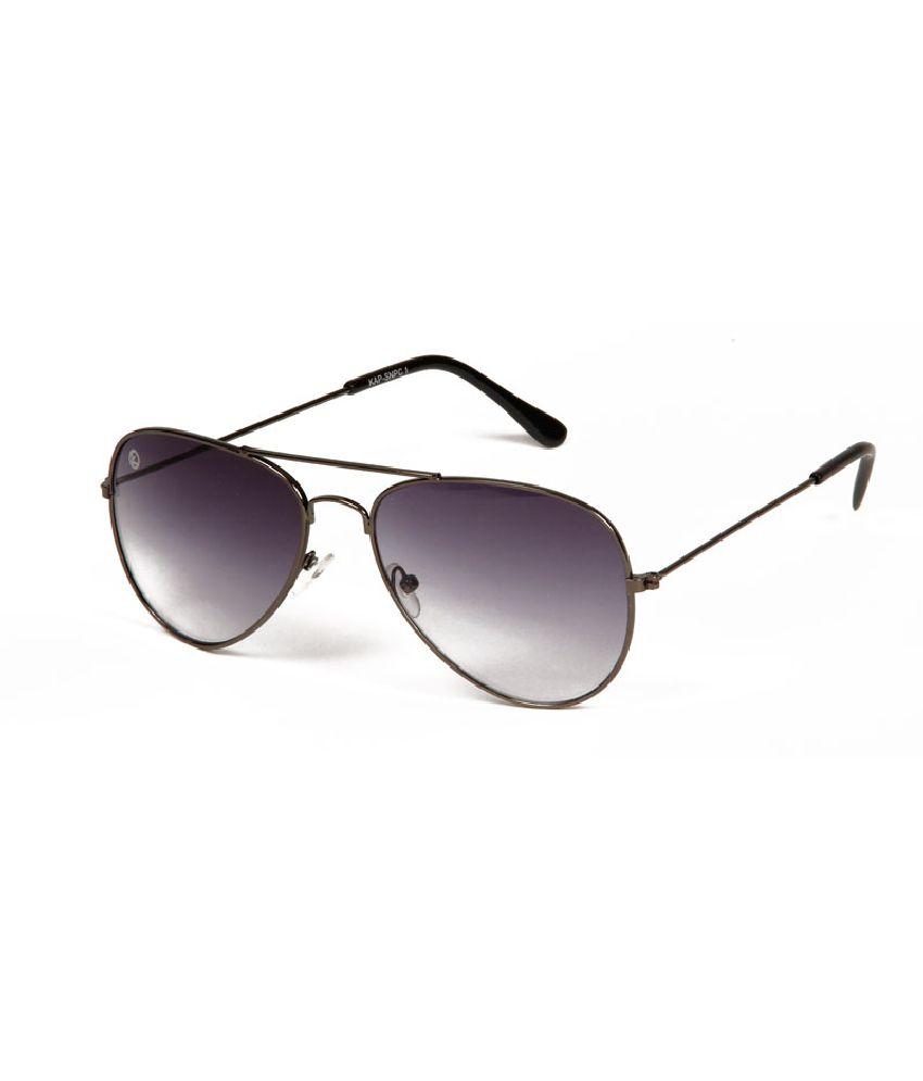 Kapapai KAP-TS-SNGLS-SNPC1-PRPL-GUNMETAL Medium Men Aviator Sunglasses