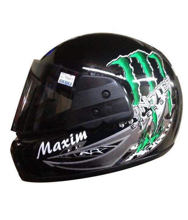 Autofurnish Monster Style Black Full Face Maxim Helmet Graphics
