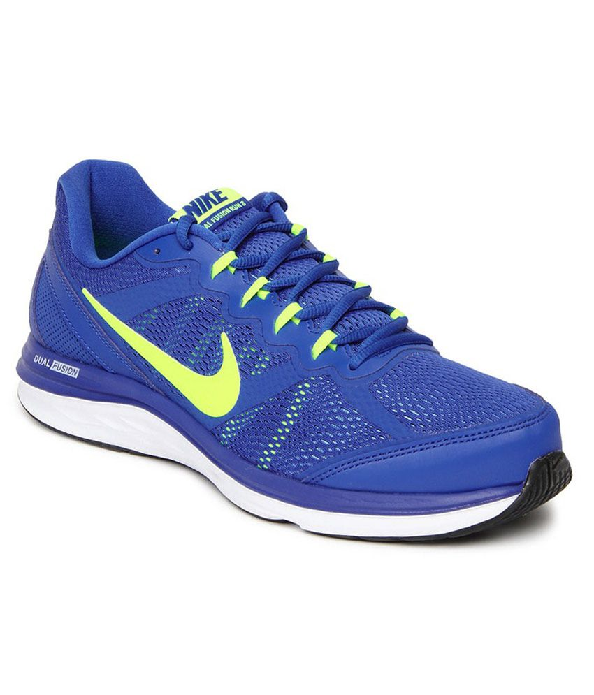 487cacb32682 Nike Dual Fusion 3 Msl Shoe- Blue - Buy Nike Dual Fusion 3 Msl Shoe- Blue  Online at Best Prices in India on Snapdeal