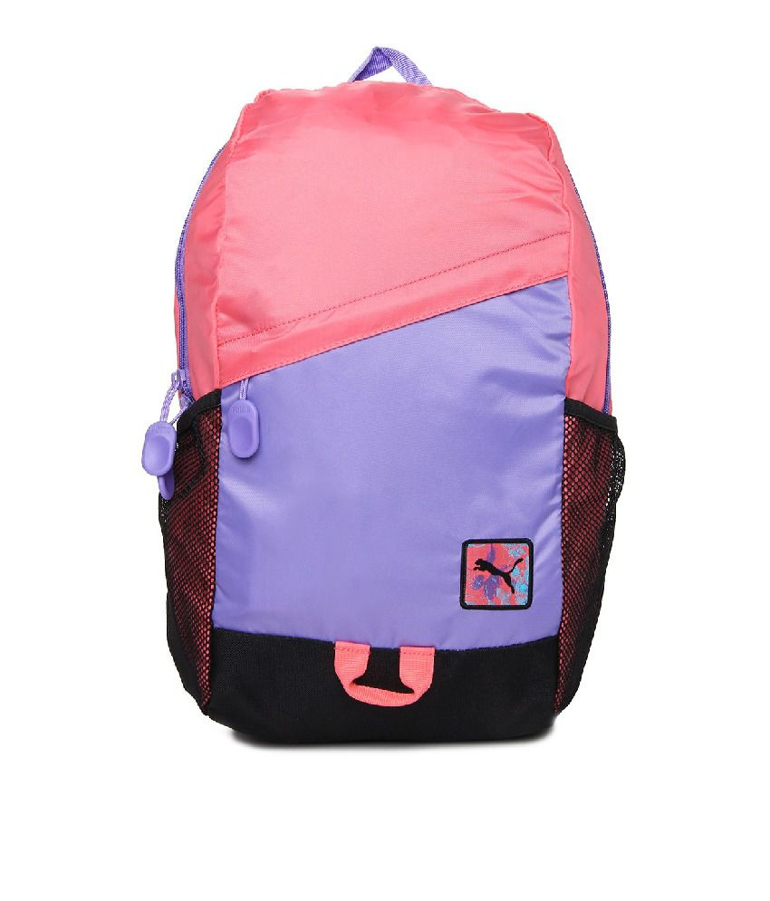 23af1739b3 Puma Pink   Purple Backpack For Girls - Buy Puma Pink   Purple Backpack For  Girls Online at Best Prices in India on Snapdeal