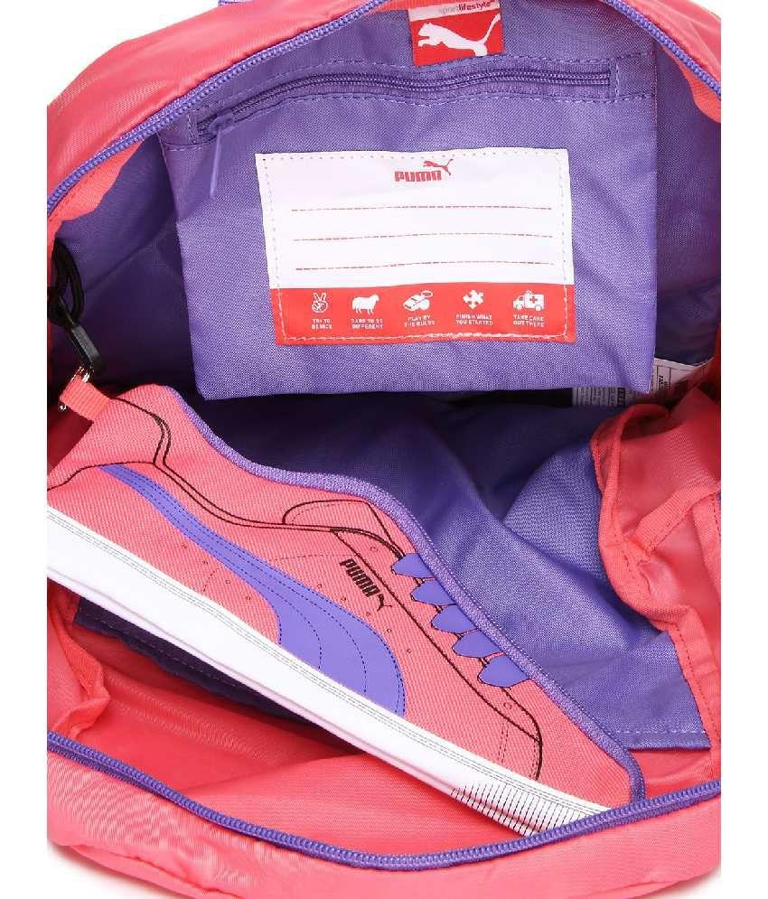b1290e7da7 Puma Pink   Purple Backpack For Girls - Buy Puma Pink   Purple ...