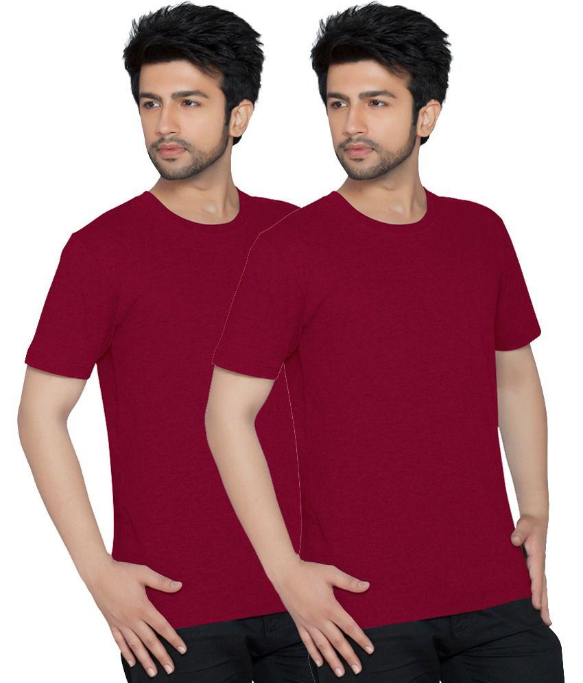 Texfit Multi Color Cotton Round Neck Half Sleeves Basics T-shirt