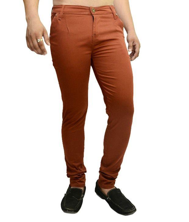 Nation Mania Orange Cotton Trouser