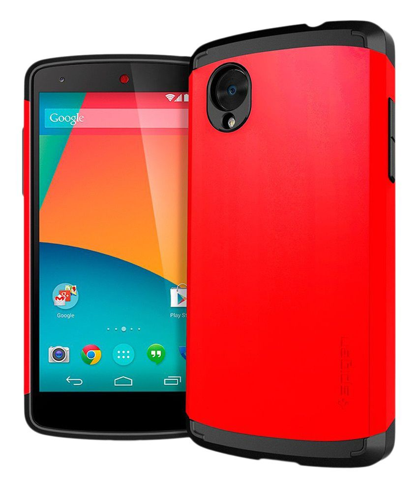 Spigen lg google nexus 5 case cover slim armor neon red for Spigen nexus 5 template