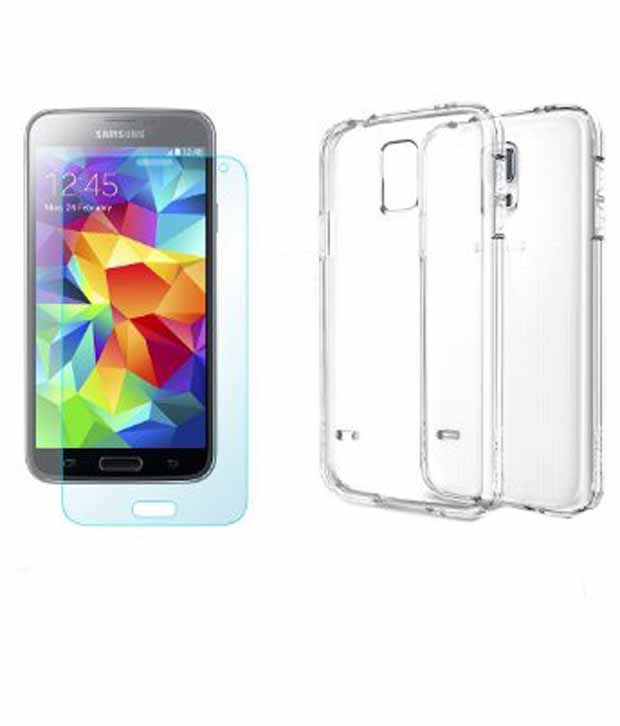online store 53a47 1c755 Spigen Samsung Galaxy S5 Case Cover CAPSULE Ultra Fit (Clear Capsule) with  Free Spigen Screen Guard