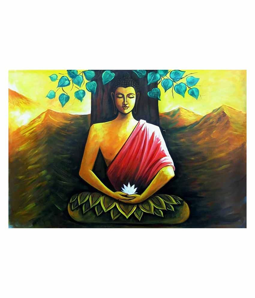 Vishnu Artz Multicolour Godly Canvas Wall Painting