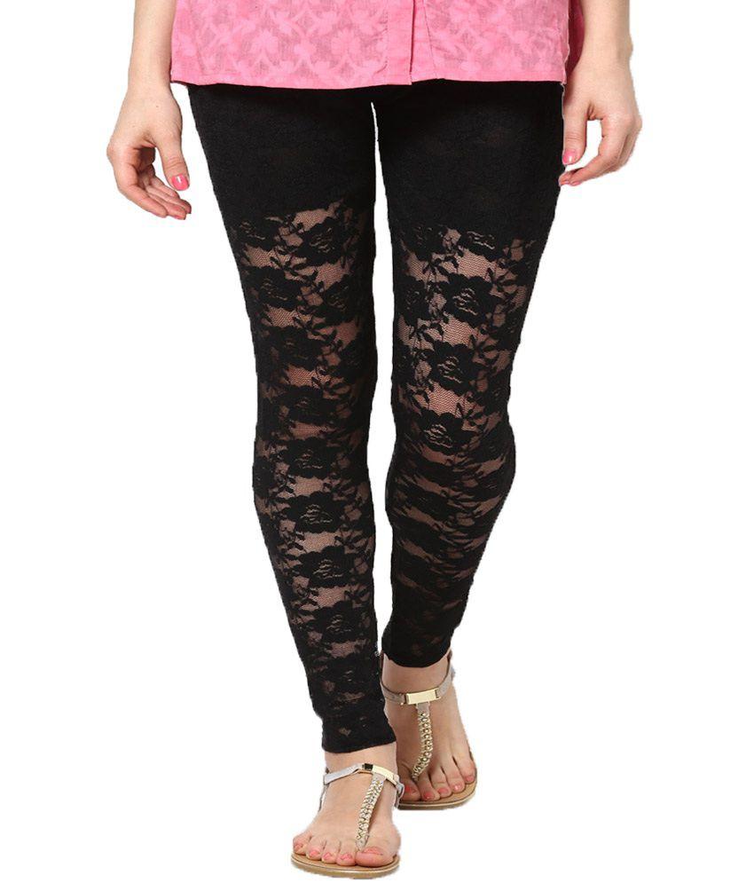 c69d9bf0e0ba4 Castle Lifestyle Black Net Leggings Price in India - Buy Castle Lifestyle Black  Net Leggings Online at Snapdeal