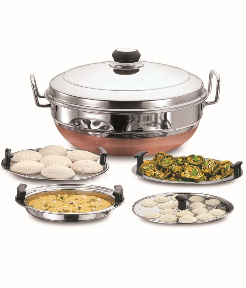 garuda stainless steel finish copper bottom cookware multi kadhai rh snapdeal com