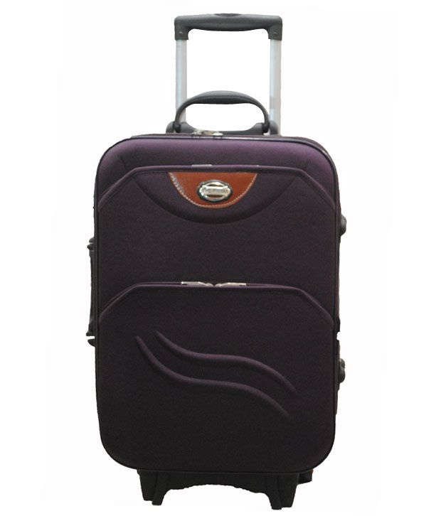 United 2 Wheel Trolley Bag - Purple
