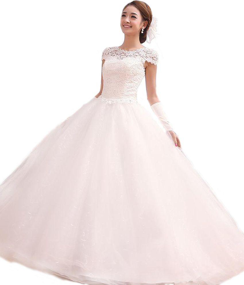 gorgeous net elegant ball wedding gown - buy gorgeous net