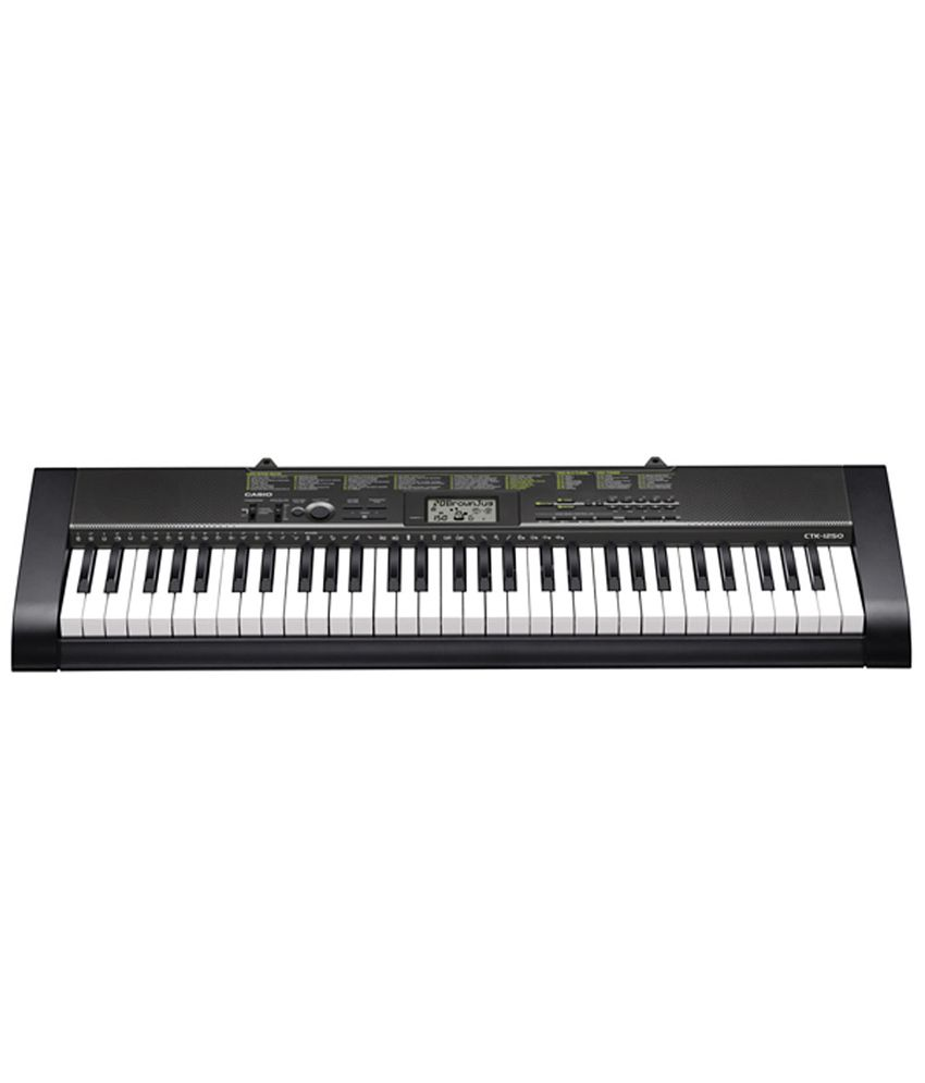 Casio CTK-1250 Standard Keyboard - 61 Piano Style keys.